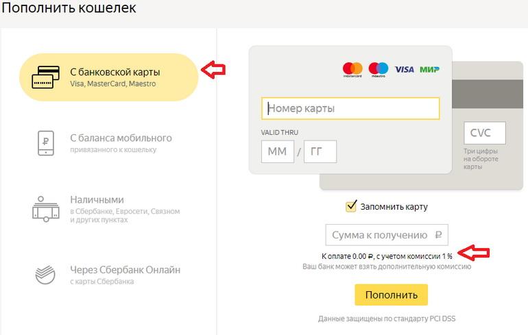 Перевод денег через сервис Яндекса